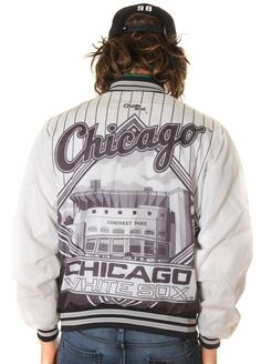 VINTAGE CHICAGO WHITESOX ALL OVER PRINT NWA EAZY STYLE CHALKLINE JACKET