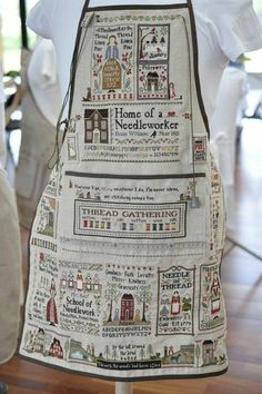 Stitched aprons posted on a French blog. ¿No es increíble?.