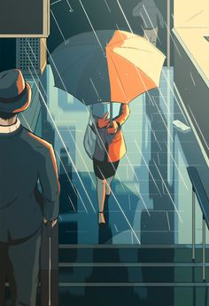 The Downpour by Guy Shield, via Behance