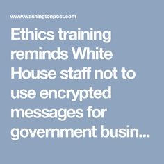 Trump Transition Team Canceled Plan For Ethics Training For Staff