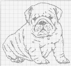Gallery.ru / Фото #2 - мои любимые псюхи - Loi Filet Crochet Charts, Cross Stitch Charts, Stitch Patterns, Crochet Patterns, Crochet Rings, Fillet Crochet, Bulldog, Needlework, Tapestry