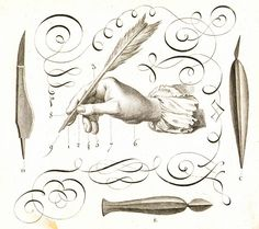 """Plate depicting """"Art d'Ecrire"""" The Art of handwriting – from Diderot & d'Alembert's Encyclopédie, Paris. Types Of Visual Arts, Quill And Ink, Calligraphy Drawing, Harry Potter, Easy Frame, Sale Poster, 18th Century, Quilling, Paper Art"""