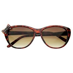 6607b4eada Super cute vintage inspired cat eye sunglasses that features a bow with  rhinestones on the right