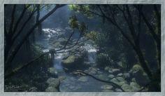 Twin Falls, Drea Horvath on ArtStation at https://www.artstation.com/artwork/twin-falls