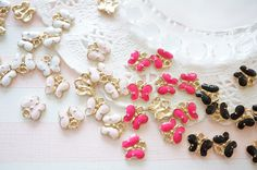 SALE Limited Stock 10 pcs Tiny Gold Butterfly Charm (8mm10mm) AZ612 by Candydecoholic on Etsy