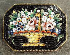 Vintage mosaic pin