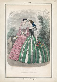 Day Dresses, May 1855 (source: Casey Fashion Plates @ LA Public Library)