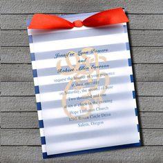 nautical wedding invitations, teemaksi ollaan mietitty usko, toivo, rakkaus ankkuria, kultainen ankkuri näyttäisi makealta valkoisen paperin takana.