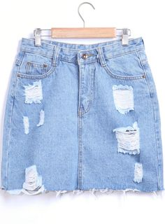 Cheap wear set, Buy Quality wearing hot directly from China skirt white Suppliers: Sheinside Latest Sexy Blue Frayed Denim Skirts Fashion Fitness Wear Women 2016 Summer Hot Ladies Bodycon Mini Skirt Ripped Denim Skirts, Denim Skirt Outfits, White Denim Skirt, Denim Overalls, Skirts With Pockets, Mini Skirts, Jean Skirts, Short Skirts, Best White Jeans