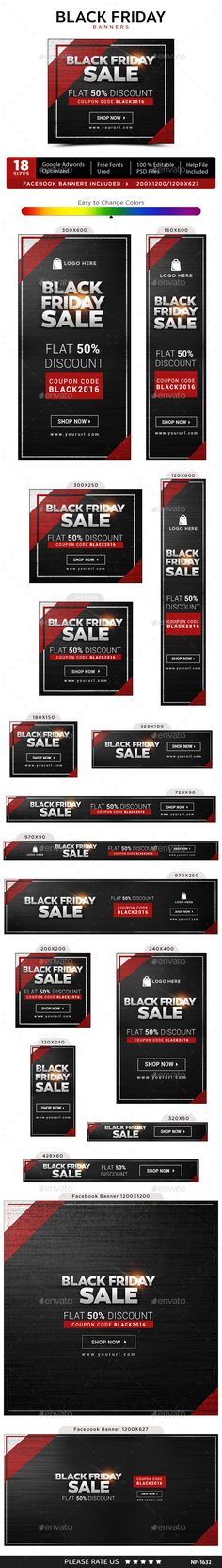 Black Friday Banners Design Template - Banners & Ads Web Elements Banners Ads Design Template PSD. Download here: https://graphicriver.net/item/black-friday-banners/18901623?ref=yinkira