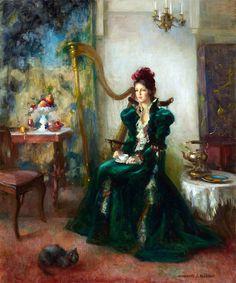 fleurdulys:    The Visitor - Marguerite Stuber Pearson  20th century