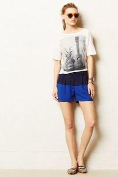 Cartonnier Colorblock Shorts #anthrofave #anthropologie