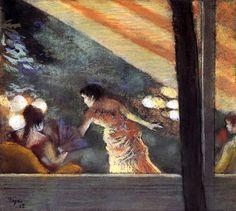 At the Cafe des Ambassadeurs / Edgar Degas - 1885
