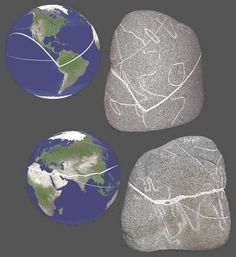 The stone is estimated to have been created somewhere between 10 to 12 thousand years ago. It is basically a globe of our planet. All of the main continents are depicted on the stone and for the most part they are shown in their correct locations and their correct relative sizes. How could anyone possibly know the geographic locations and sizes of all the worlds land masses that long ago?