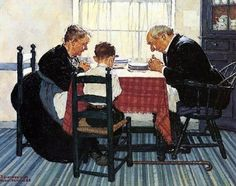 Norman Rockwell (1894 – 1978, American) .... We Give thanks and acknowledge him…