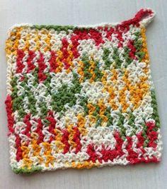 **Set of 2 Multi Colored Hot Pads** | @TheCrochetCubby/Angela Wojcik #Crochet on #ArtFire #handmade