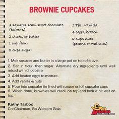 Brownie? Cupcake? BROWNIE CUPCAKES! This Tasty Tuesday recipe is de-lish!