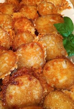 Parmesan Potatoes with basil