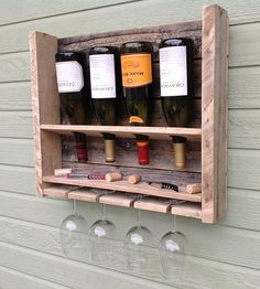 Small Reclaimed Pine Wine Rack | Home Decor | Del Hutson | Scoutmob Shoppe | Product Detail