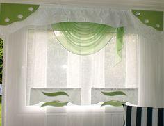 Wohnzimmer Gardine grün von Marillius auf DaWanda.com