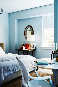 Tour a Euro Chic Apartment in Sydney via @domainehome Beautiful blues