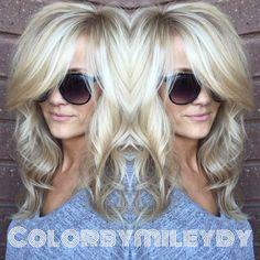 Love Hair, Great Hair, Big Hair, Gorgeous Hair, Curly Hair, Beautiful, Medium Hair Styles, Short Hair Styles, Brown Blonde Hair