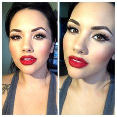 #ShareIG Head shot..;) my lips today were my focus, red lips and Christmas go hand in hand, RIRI WOO and Brick lip liner