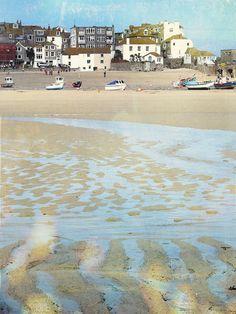 textile artist photography and mixed media - Carolyn Saxby Textile Art St Ives Cornwall Carolyn Saxby, St Ives Cornwall, Art Archive, Textile Artists, Sunlight, Mixed Media, Doodles, Textiles, Beach