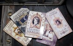 DIY Gilderoy Lockhart Book Ornaments! Visit my site for free home use only template downloads ;)