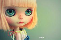 Blue Butterfly Dolls : Custom Blythe doll Simply Mango