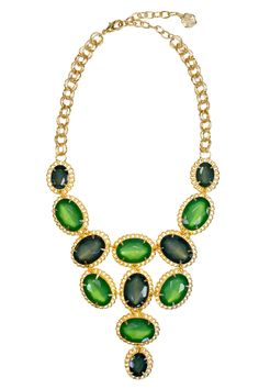 RJ Graziano Crown Jewels Necklace - Looking for a statement necklace to punch up your look? Search no further - this RJ Graziano emerald stunner will do the trick at only $15!