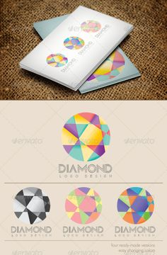 Diamond Logo  #GraphicRiver         Diamond Logo  	 Simple, unique and easy to change a colors.  Include a four ready-made versions ( colorfull, grey and gradients) and each of them you can change a color. Used font Madonna  .dafont /madonna.font     Created: 8April12 GraphicsFilesIncluded: TransparentPNG #VectorEPS #AIIllustrator Layered: No MinimumAdobeCSVersion: CS Resolution: Resizable Tags: Latha #abstract #color #colour #diamond #easy #gradient #grey #logo #parts #simple