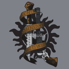 """""""Winchester's Arsenal"""" T-Shirt  £16.68 (www.redbubble.com)  http://www.redbubble.com/people/rollbiwan/works/7977031-winchesters-arsenal#"""