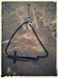 Banger Cross Black Bracelet