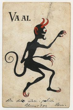 Krampus or Devil, Palermo 1903.