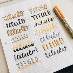Bullet Journal Headers, Bullet Journal Banner, Bullet Journal School, Bullet Journal Writing, Journal Fonts, Bullet Journal Lettering Ideas, Bullet Journal Ideas Pages, Lettering Tutorial, Hand Lettering Fonts