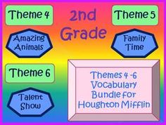 Cloze Worksheet Package for Houghton Mifflin Harcourt Second Grade Themes 4-5-6