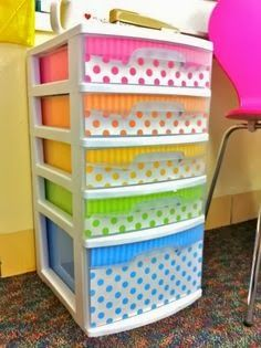 The Best DIY and Decor Place For You: DECORATED PLASTIC DRAWERS