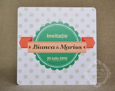 Invitatii Nunta, Handmade, Invitatie Nunta MINTHA www.nuptialis.ro