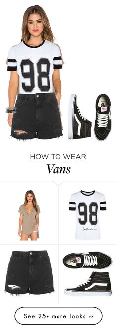 """Untitled #138"" by aprilcou on Polyvore featuring Free People, Topshop, Vans and GUESS"