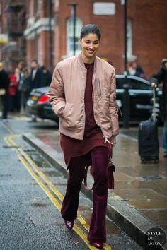 Feeling like a fine wine at London Fashion Week Mens FW 2017 Street Style: Caroline Issa