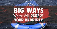 Big Ways Water Will Destroy Your Property Water Puddle, Water Drip, Fascia Board, Commercial Roofing, Residential Roofing, Thing 1, Slip And Fall, Exterior Trim, Roofing Contractors