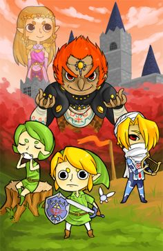The Legend of Zelda: Ocarina of Time artwork by Roadkill Fox.