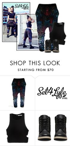 """""""SHOP - Set 4 Lyfe Apparel"""" by ladymargaret ❤ liked on Polyvore featuring T By Alexander Wang and Dr. Martens"""