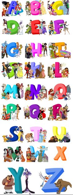 A-to-Z of Disney Characters