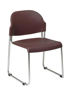 Office Star Work Smart STC3030-4 4 Pack Stack Chair with Plastic Seat and Back