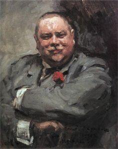 Konstantin Korovin (Russian 1861–1939) [Impressionism, Art Nouveau] Portrait of Nikolay Chichagov, 1902. Tretyakov Gallery, Moscow, Russia.