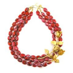 Statement necklace - cardinal and gold!