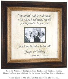 Personalized Gift Mother of the Groom by PhotoFrameOriginals