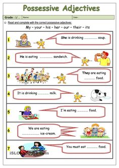 possessive adjectives worksheet - Free ESL printable worksheets made by teachers Adjective Worksheet, Pronoun Worksheets, English Worksheets For Kids, Kindergarten Worksheets, Printable Worksheets, Prepositions, Printables, Adjectives For Kids, English Adjectives
